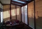 Zimní zahrada - bambusové žaluzie