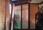 Bambusové žaluzie pro zastínění zimní zahrady