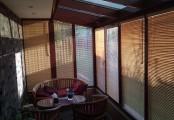 Bambusové žaluzie pro zimní zahradu