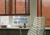 Stínění pomocí dřevěných žaluzií