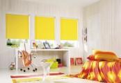 Žluté látkové rolety