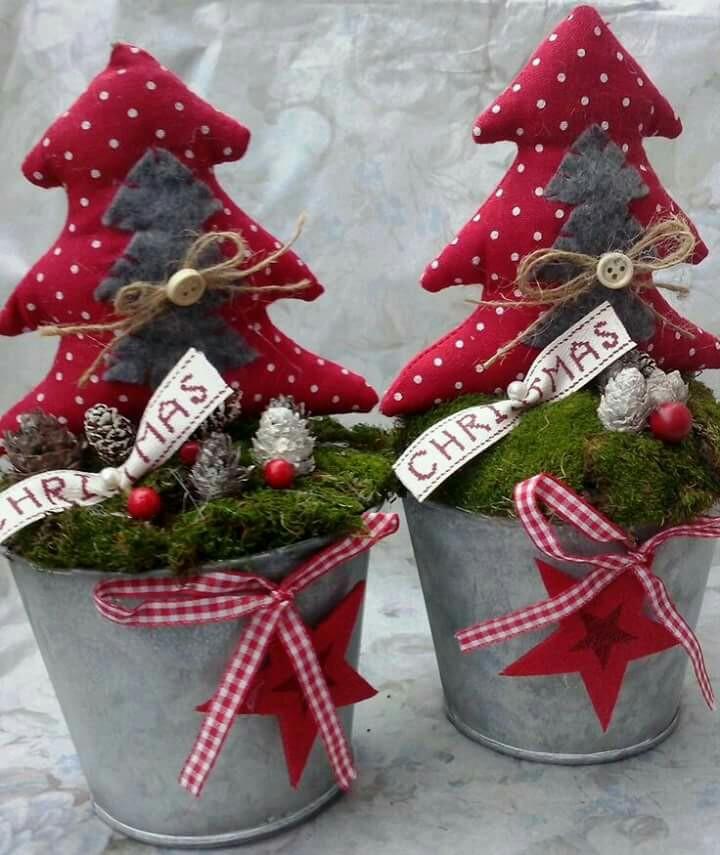 látková vánoční dekorace